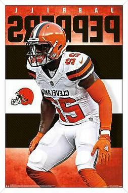 JABRILL PEPPERS - CLEVELAND BROWNS POSTER - 22x34 NFL FOOTBA