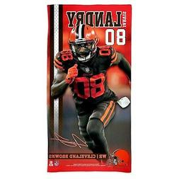 "JARVIS LANDRY CLEVELAND BROWNS SPECTRA BEACH TOWEL 30""X60"" C"