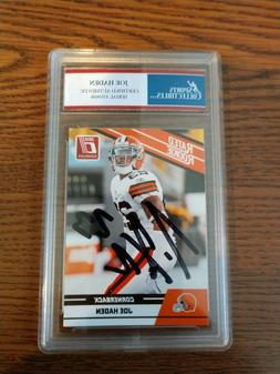 Joe Haden Cleveland Browns Rookie 2010 Topps Autographed Car