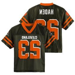 Joe Haden NFL Cleveland Browns Home Brown Youth Replica Jers