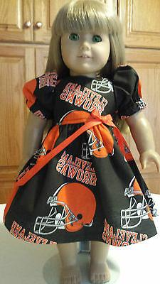 """18"""" Doll Clothes Dress  Cleveland Browns  American Made  Foo"""