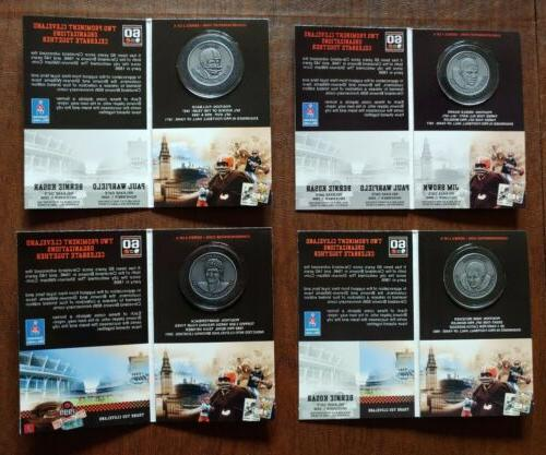 4x cleveland browns painted memories commemorative coins