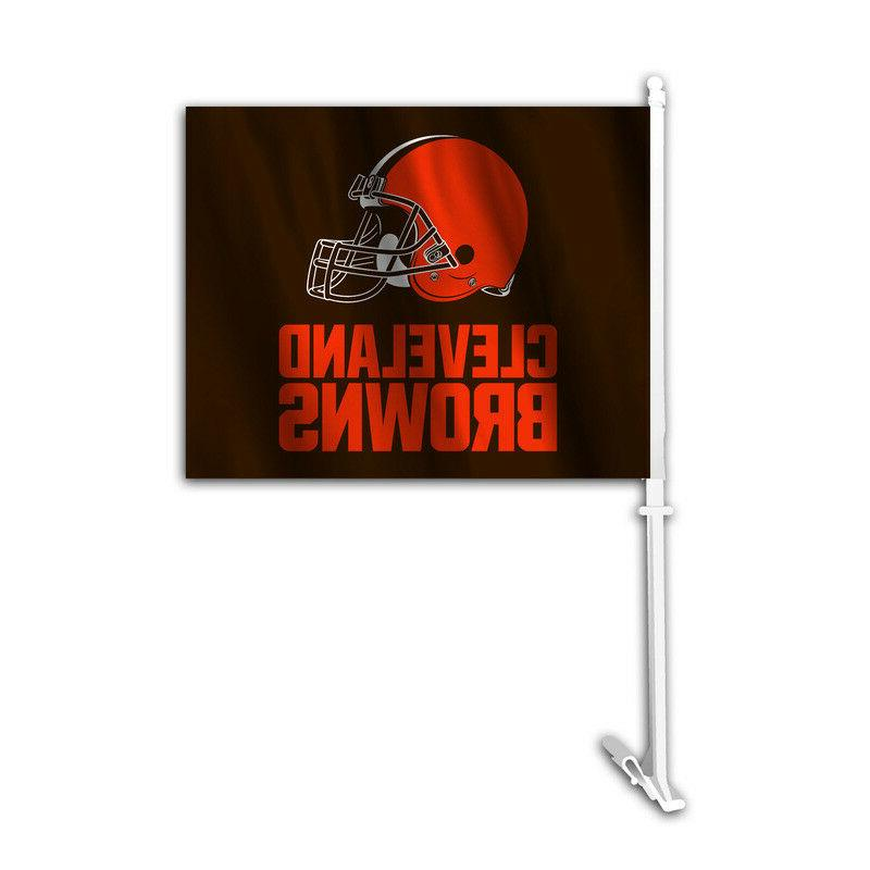 auto car window flag nfl cleveland browns