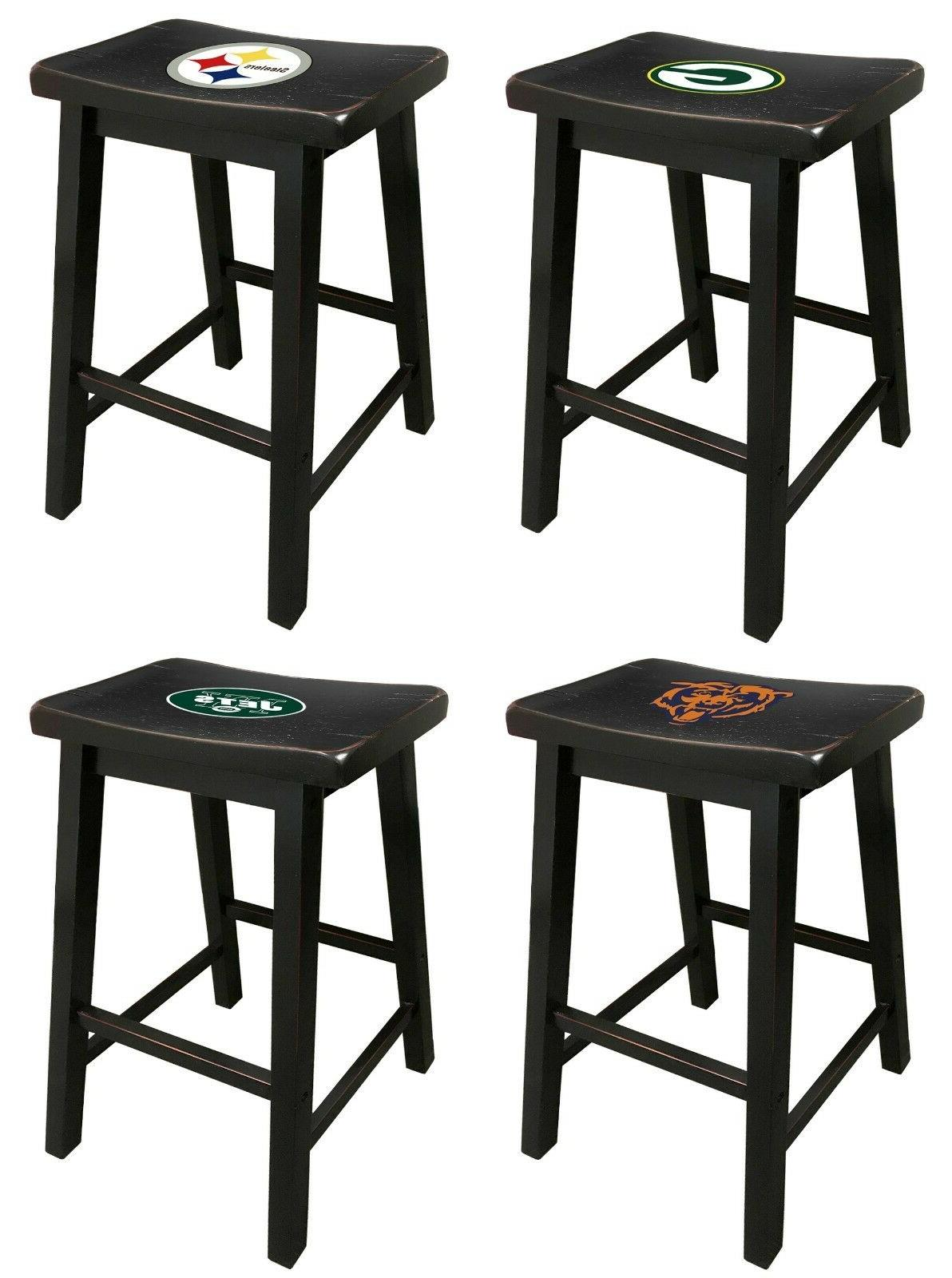 black finish saddle style bar stool 24