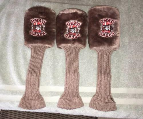 BRAND NEW Browns DAWG Head Covers GREAT