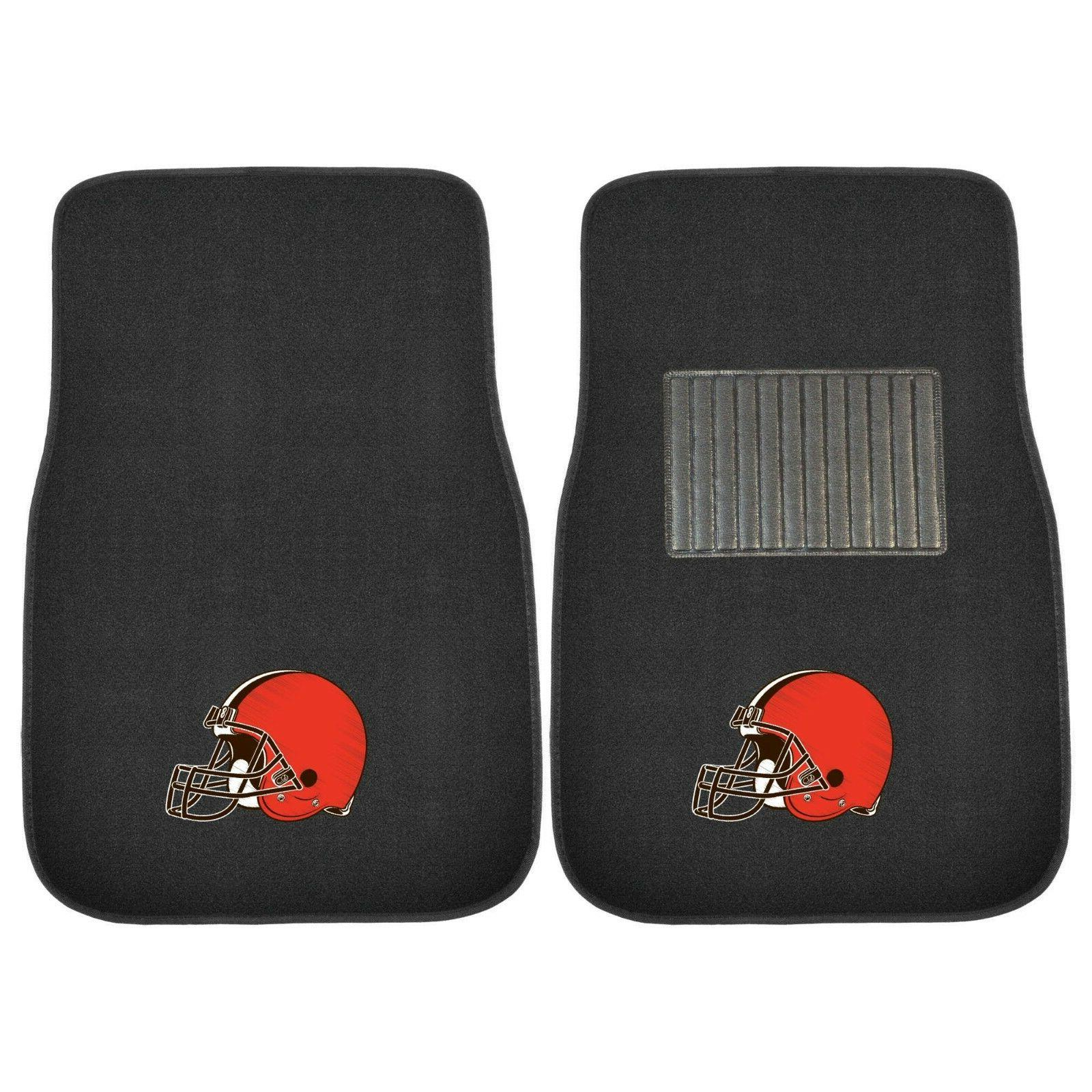 cleveland browns 2 piece embroidered car auto