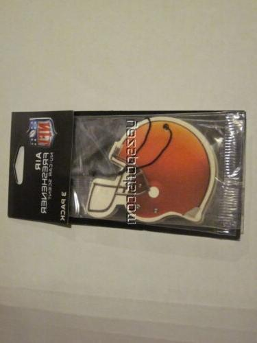 cleveland browns 3 pack air freshener