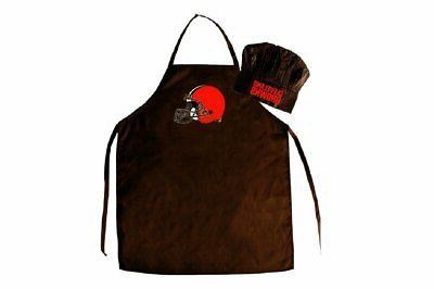 cleveland browns apron and chef hat set