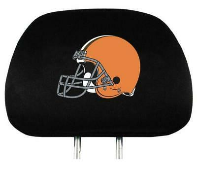 cleveland browns auto headrest covers 2 pack