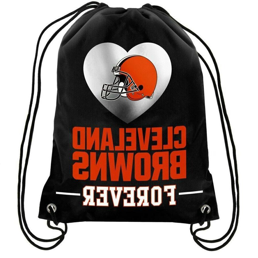 cleveland browns back pack sack drawstring bag