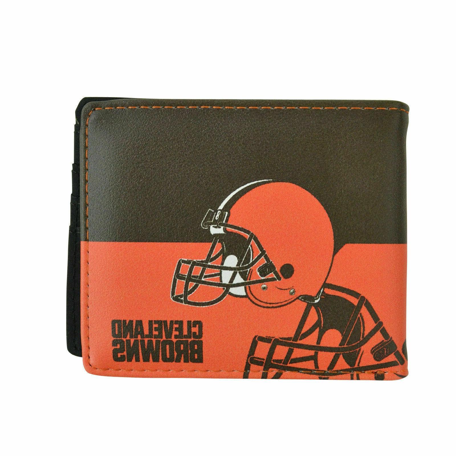 cleveland browns bi fold wallet nfl licensed