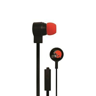 cleveland browns big logo ear buds new