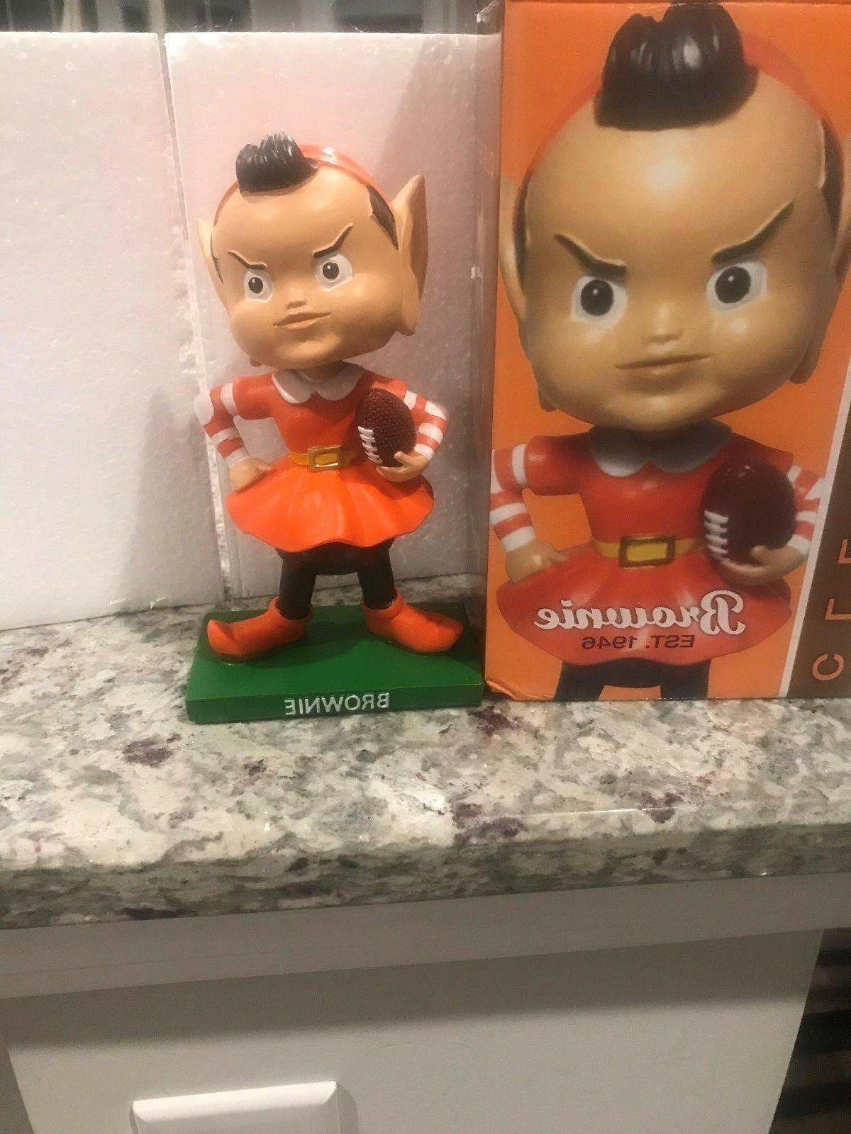 cleveland browns brownie elf mascot bobblehead bobble