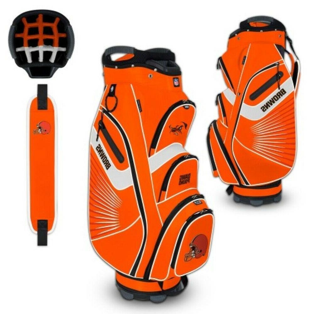 cleveland browns bucket ii cooler cart golf