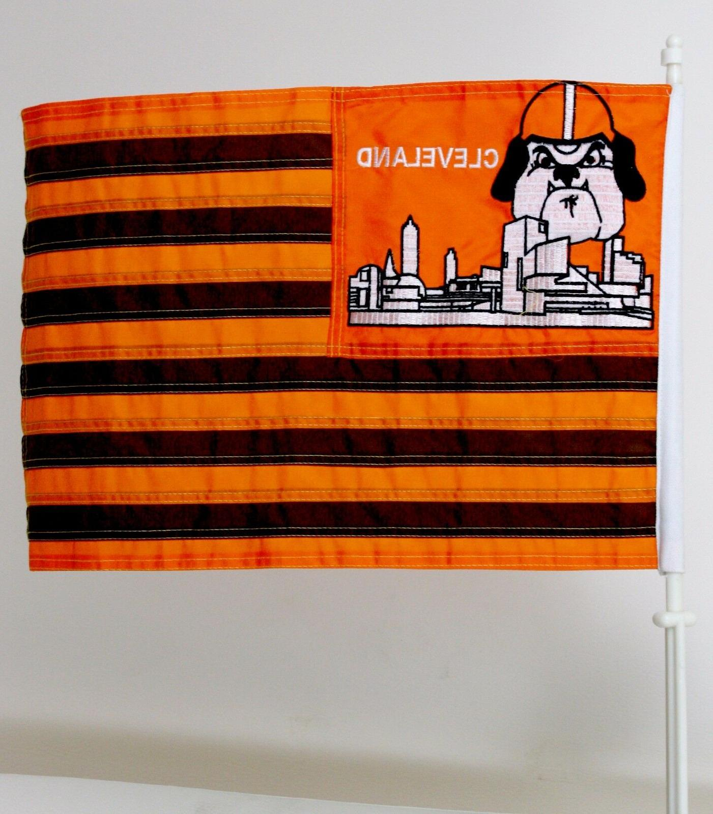 cleveland browns car window mount flag 12