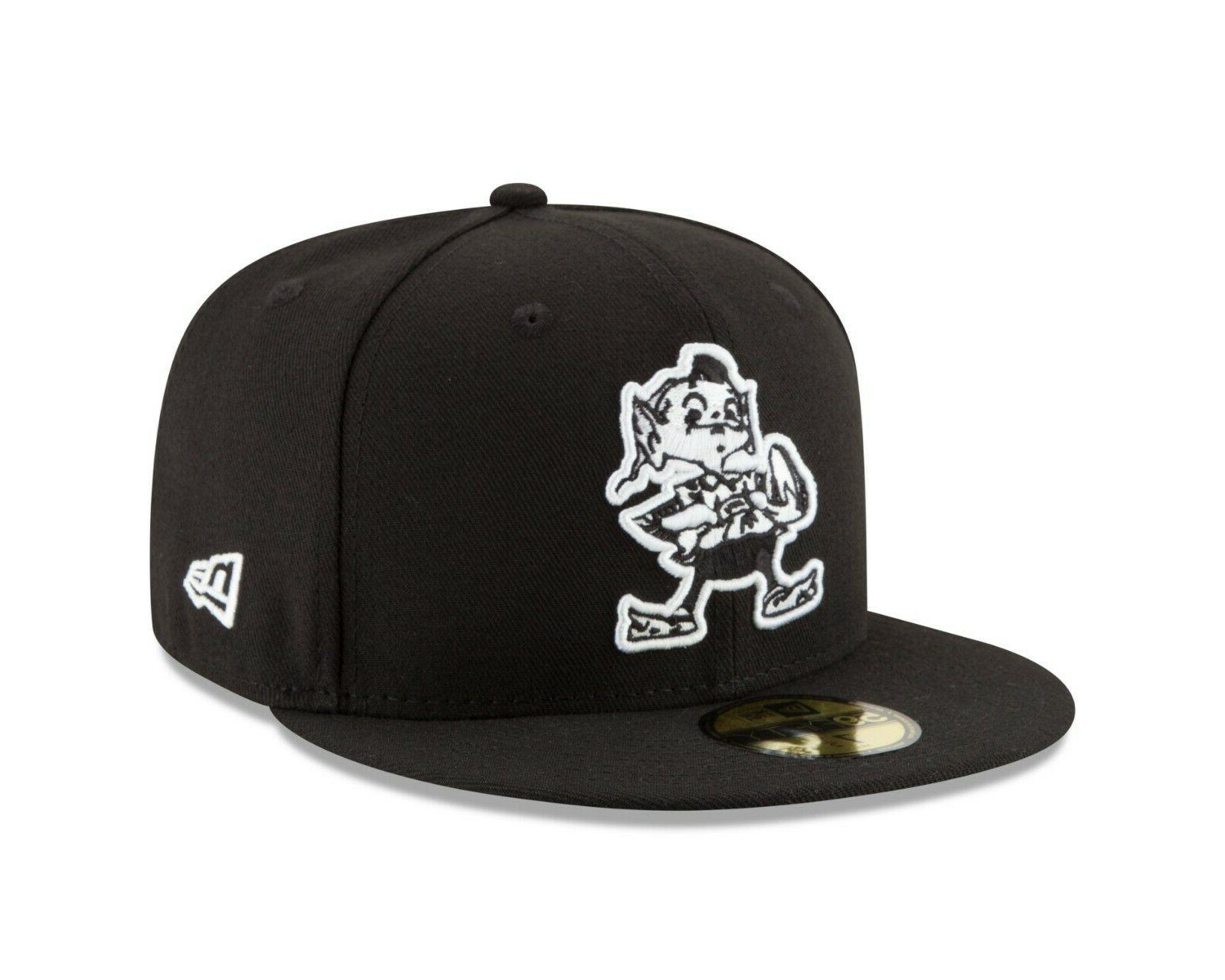 cleveland browns classic black white 59fifty fitted