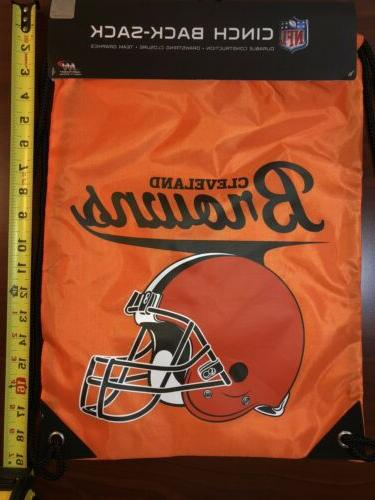 cleveland browns drawstring bag backpack tote cinch