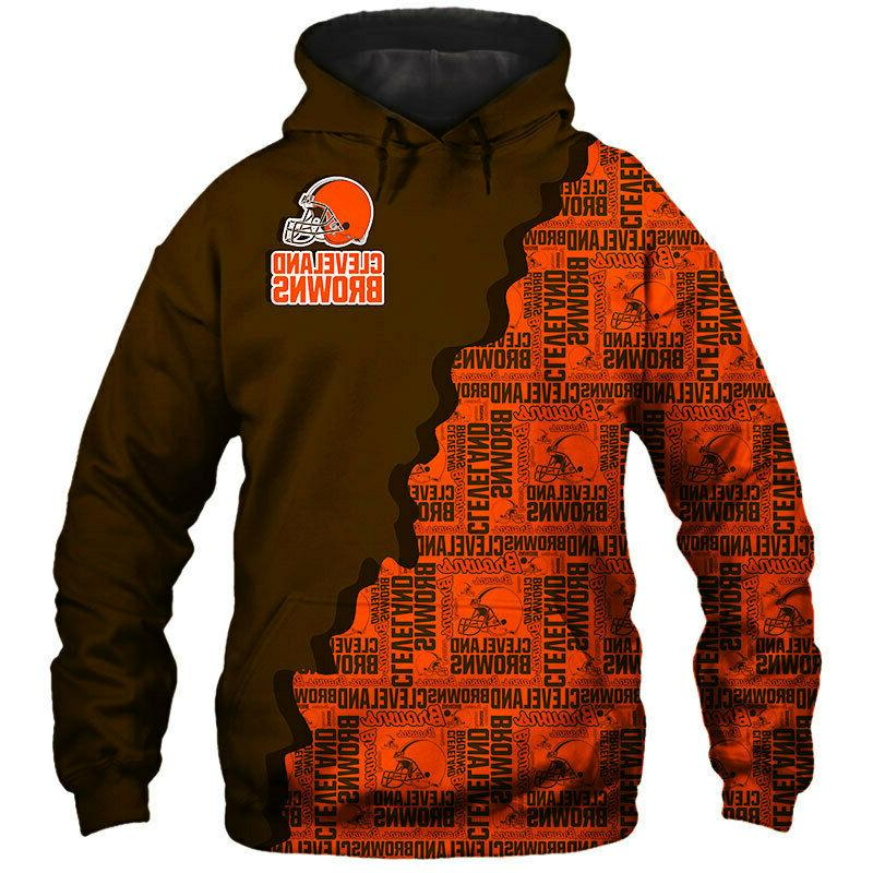 Cleveland Browns Hoodie Hooded Pullover Coat S-5XL Football