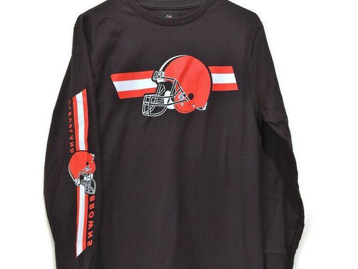 Cleveland Browns Football Long Sleeve T-Shirt Browns Small