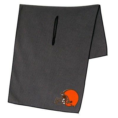 cleveland browns gray microfiber waffle golf towel
