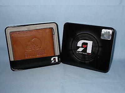 cleveland browns leather bifold wallet nib new