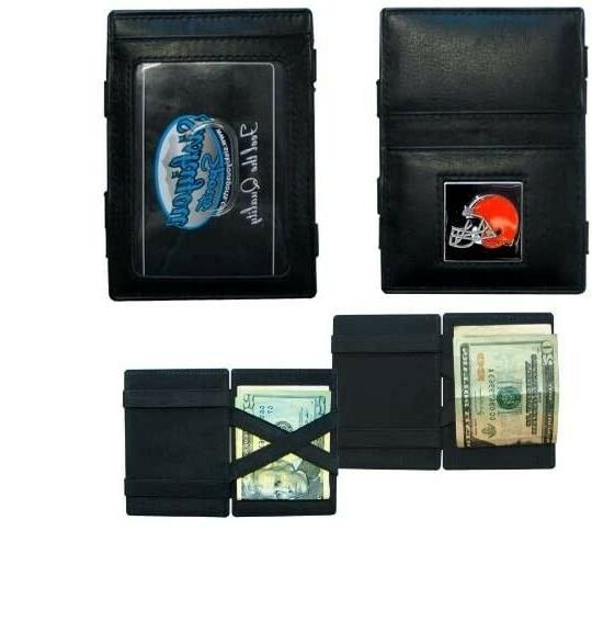 CLEVELAND BROWNS JACOB'S LADDER STYLE LEATHER WALLET
