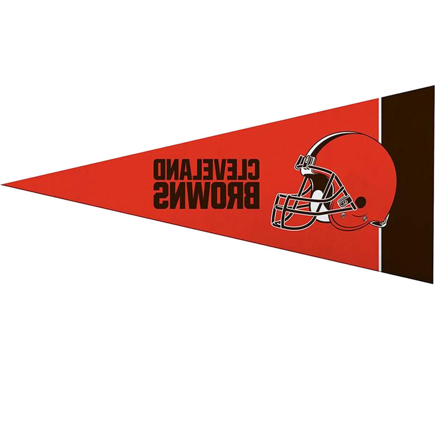 cleveland browns mini pennant set
