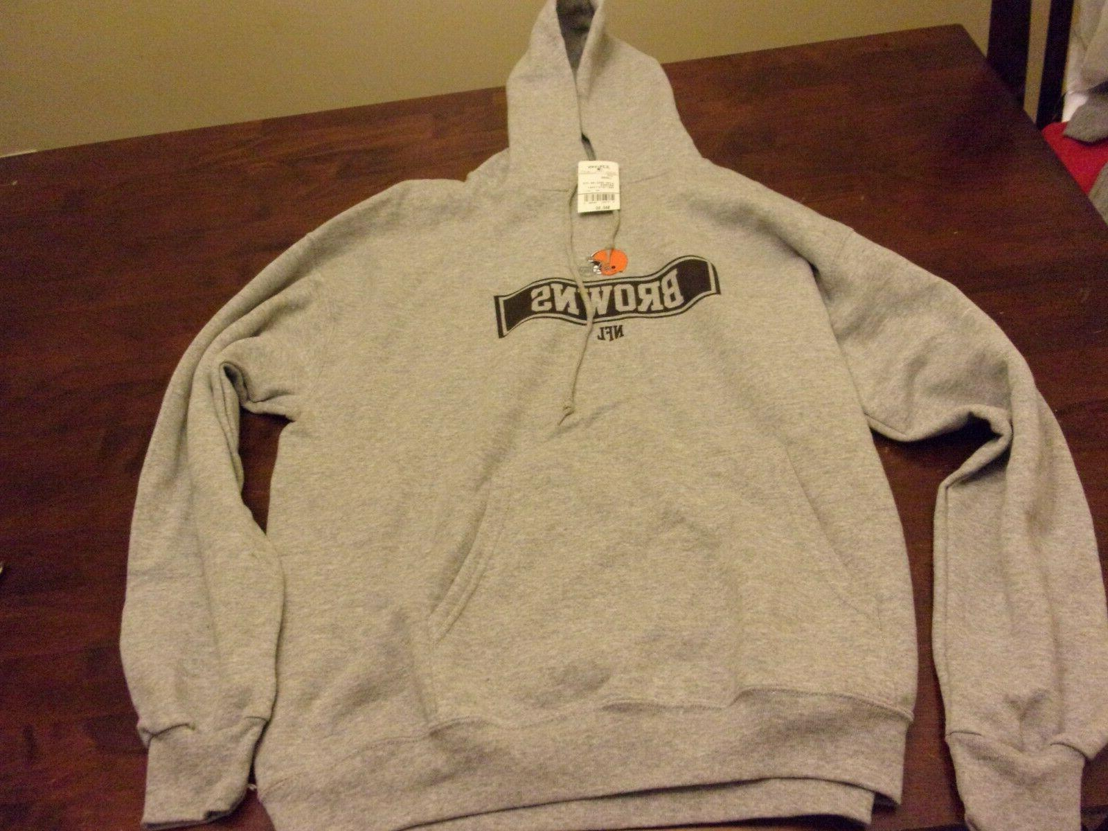 cleveland browns new mens large hooded sweatshirt