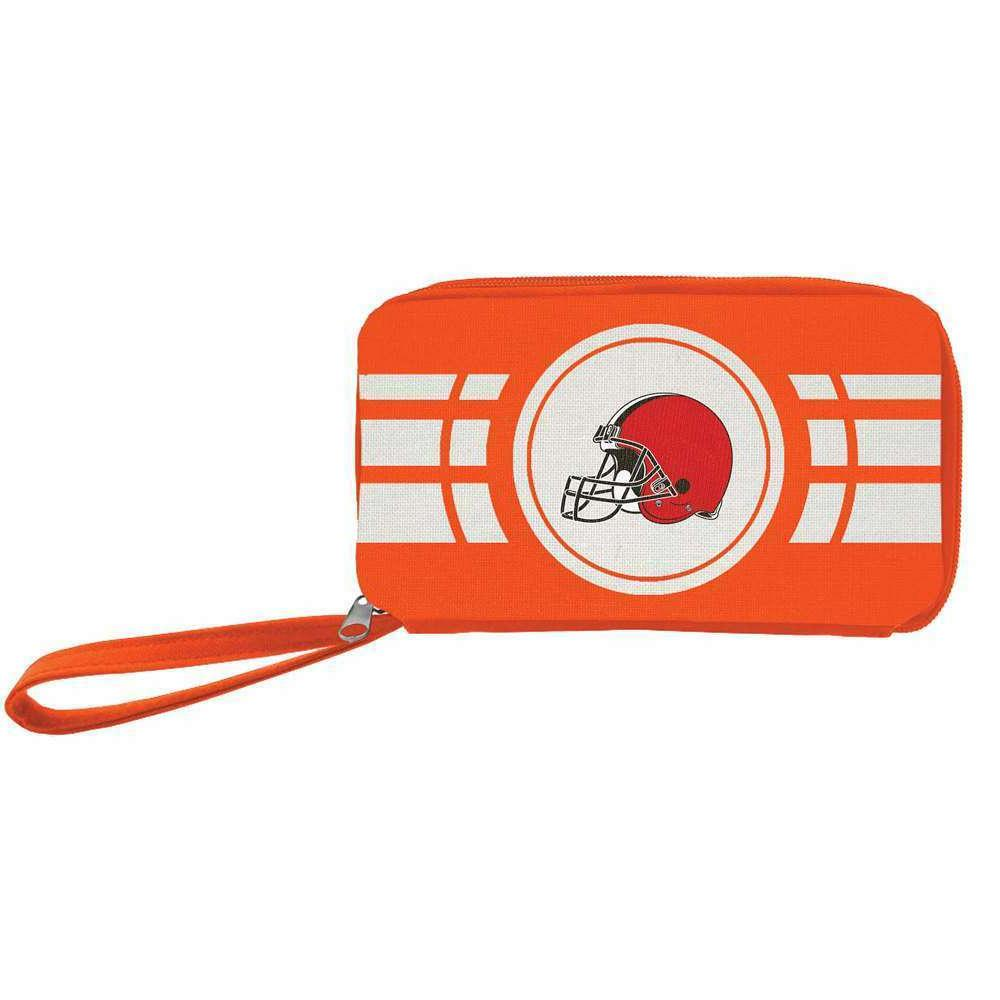 cleveland browns nfl authentic ripple zip wallet