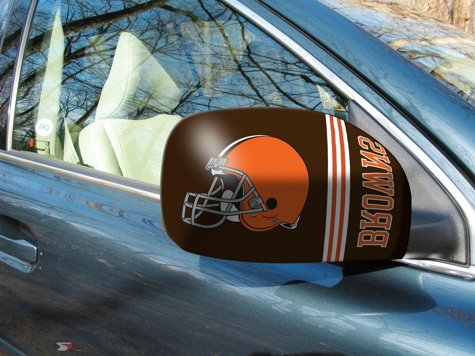 cleveland browns nfl car truck mirror covers