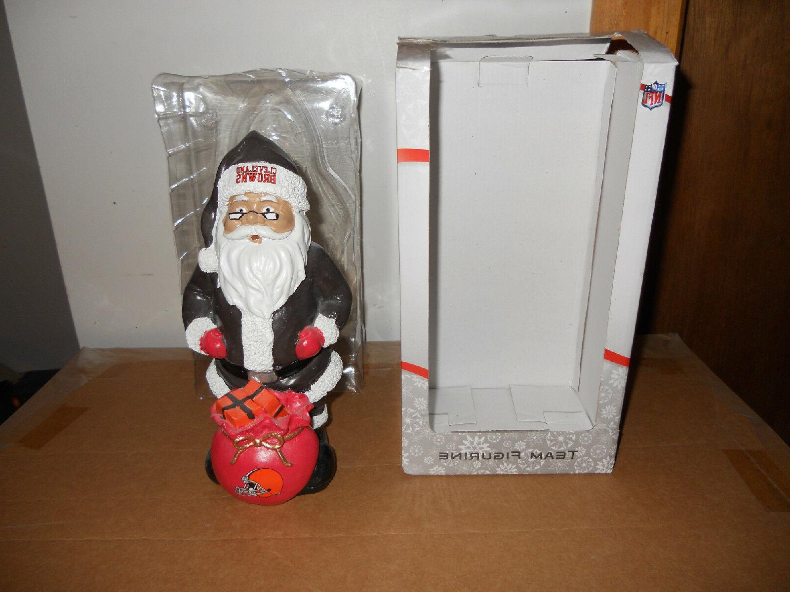 cleveland browns nfl santa forever collectibles team