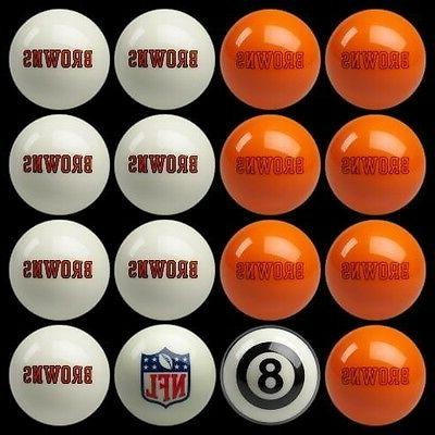 cleveland browns pool ball billiards balls set