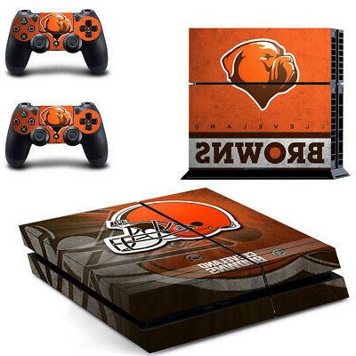 Cleveland Browns PS4 Skin Sticker Decal Vinyl Console+2 cont