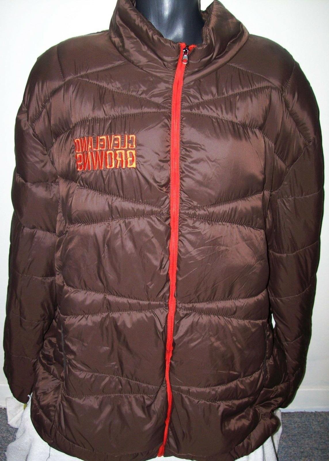 cleveland browns puffer pack it jacket