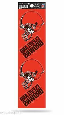Cleveland Browns Set of 4 Decals Stickers The Quad by Rico 2