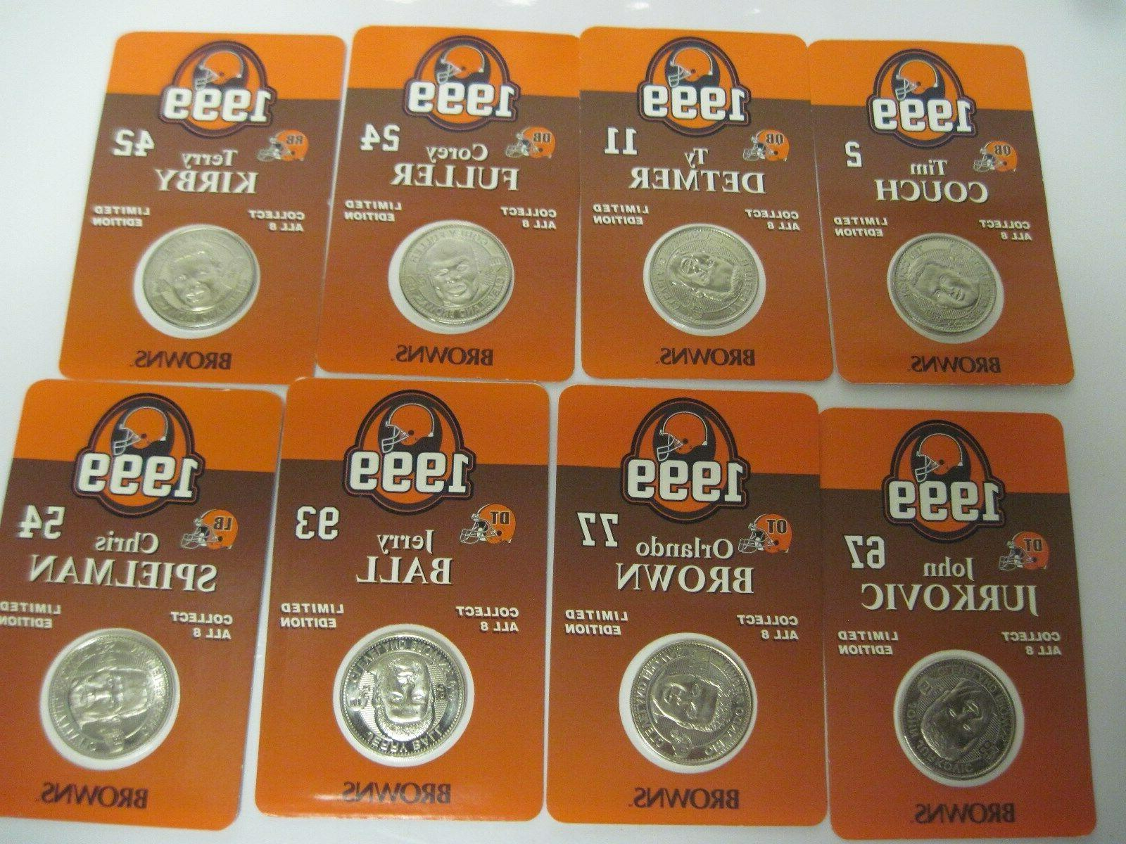 Cleveland Browns Set of 8 Collectible Giant Eagle