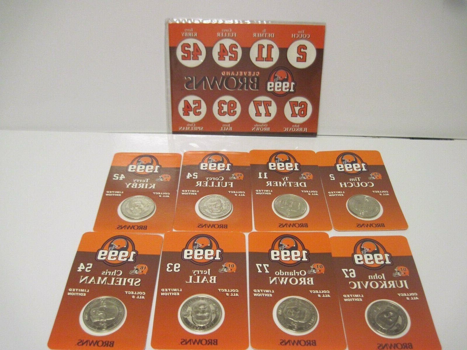 cleveland browns set of 8 collectible coins
