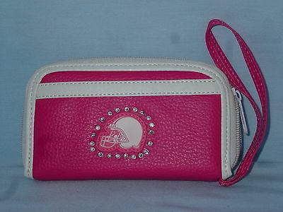 cleveland browns womens girls pink fashion wallet