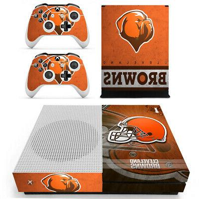 Cleveland Browns XBOX ONE S Skin Sticker Decal Vinyl Console