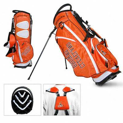 licensed nfl cleveland browns stand bag