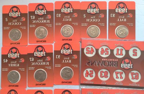 Cleveland Browns 1999 Coins Coin Holders New