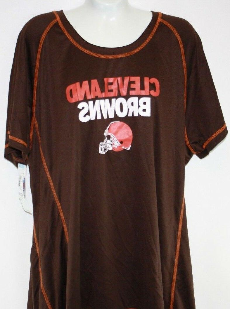 new womens nfl apparel cleveland browns brown