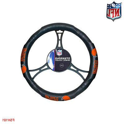 9pcs Cleveland Browns Seat Floor Mats Wheel Cover