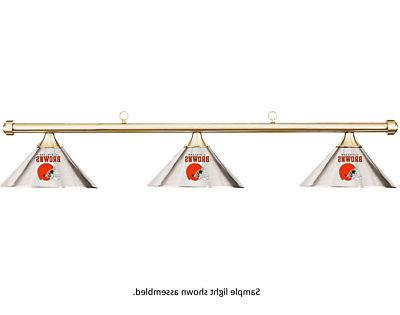 nfl cleveland browns chrome shade and brass