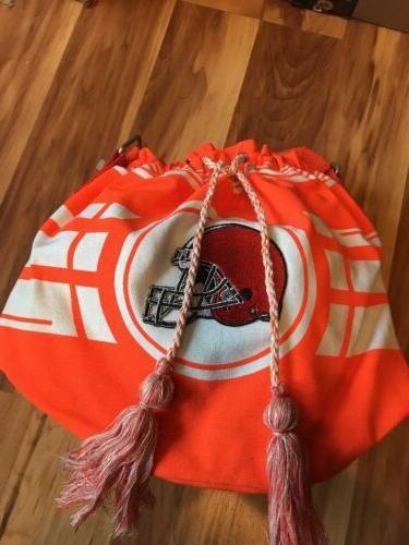 nfl cleveland browns drawstring bag team logo