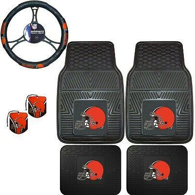 nfl cleveland browns floor mats steering wheel