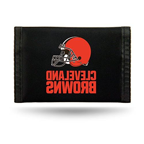 nfl cleveland browns nylon trifold