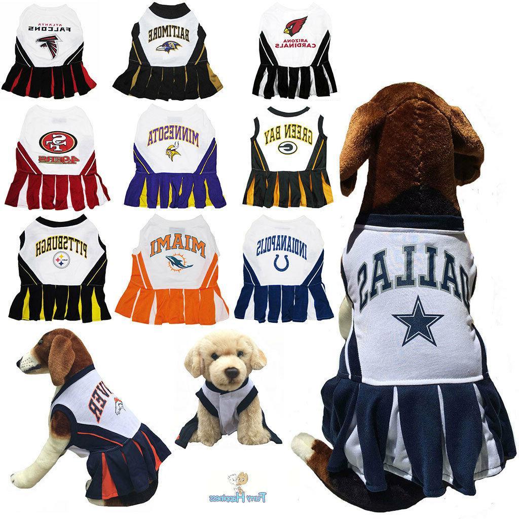 nfl fan gear cheerleader female dog dress