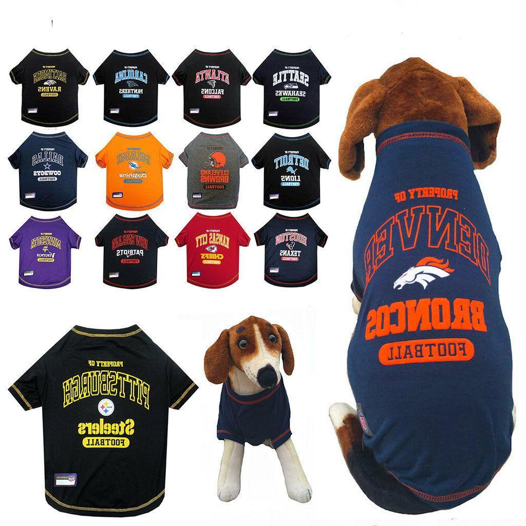 nfl fan gear dog shirt tee