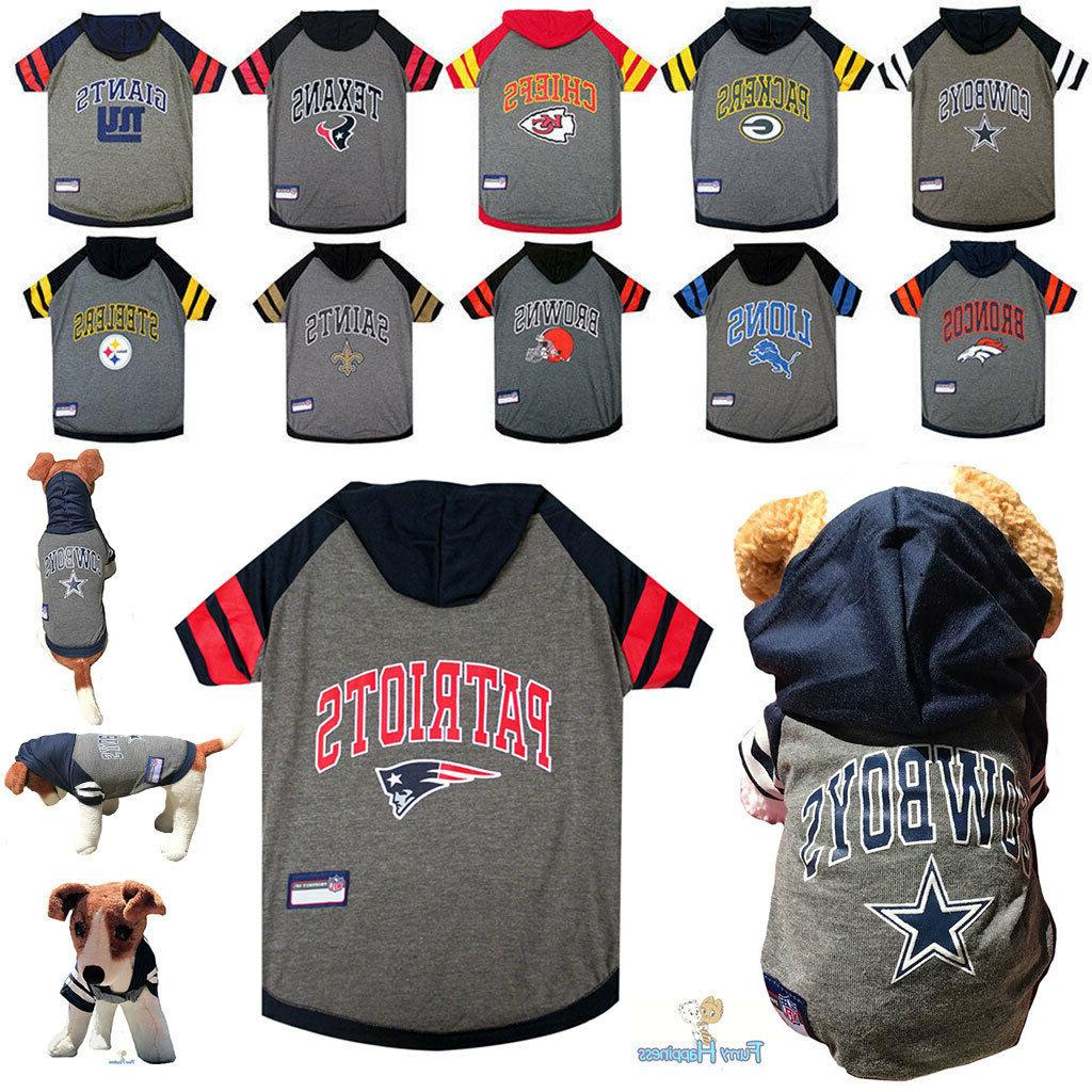nfl fan gear dog shirt with hood